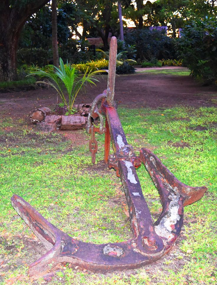 Anchor in the middle of the gardens.