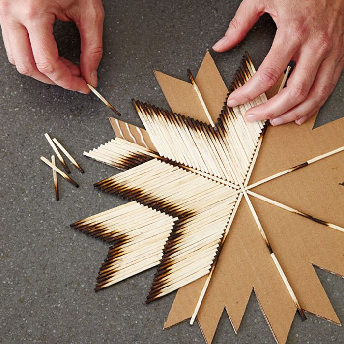 TUTORIAL: http://www.lowes.com/creative-ideas/decorate-and-entertain/matchstick-star/project | This would be great room decor!