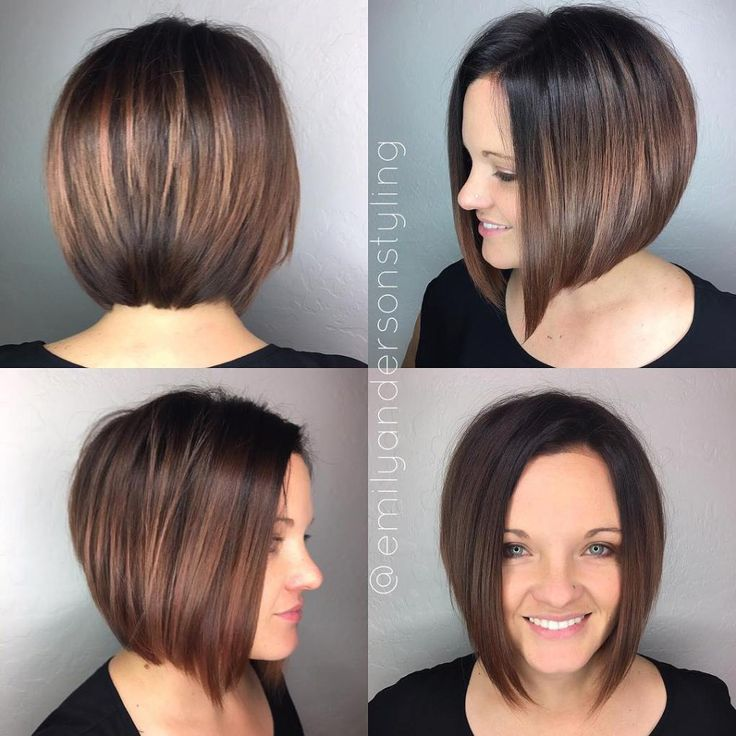 The Full Stack 30 Hottest Stacked Haircuts Brunette Bob