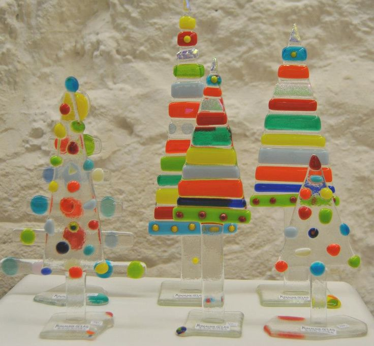 Christmas trees. Design by MikkalinaGlas. For more see www.mikkalina.com or search 'Mikkalina-Glas' on facebook.