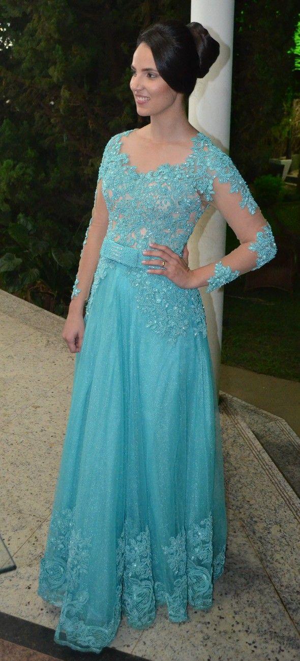 Vestido Azul Tiffany Fernanda Carneiro - Blog Rotina