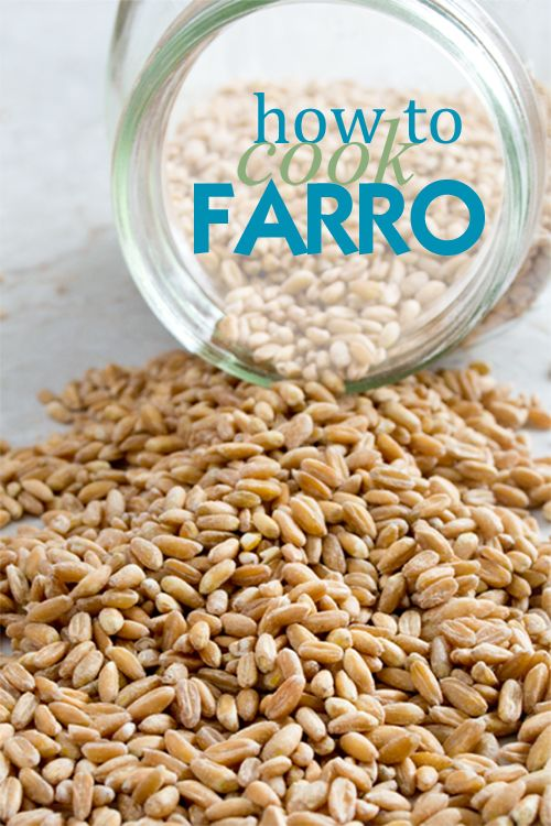Farro makes such a delicious side dish. Here: How to Cook Farro on the Stove top, in the Oven and Slow Cooker.