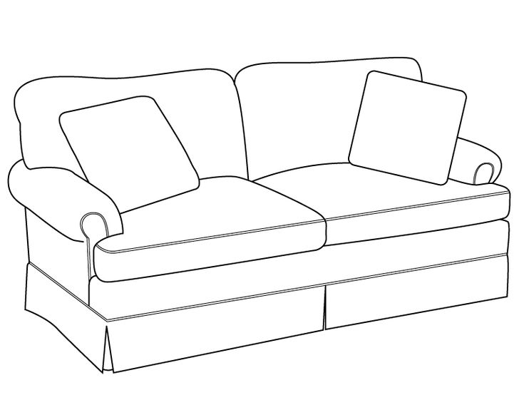 Line Drawing In C : Sofa drawingline drawing modern traditions furniture