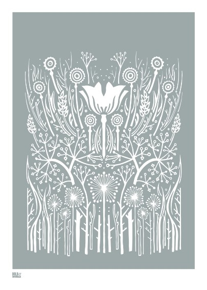"""Hedgerow"" screenprint."