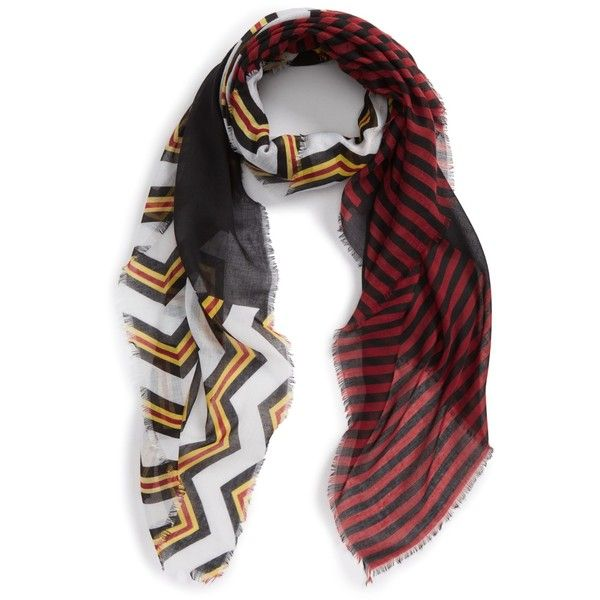 BP. Chevron Stripe Scarf ($6.97) ❤ liked on Polyvore featuring accessories, scarves, striped shawl, striped scarves, colorful scarves, patterned scarves and chevron scarves
