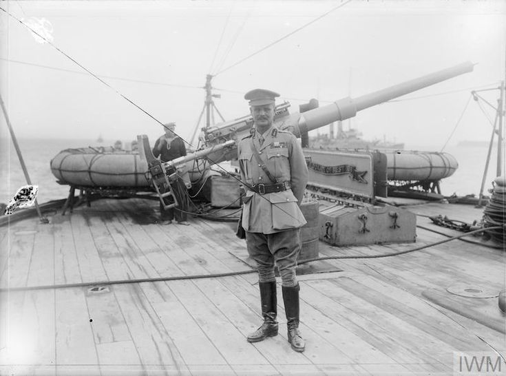 THE GALLIPOLI CAMPAIGN, APRIL 1915-JANUARY 1916 -General William Birdwood on board a Royal Navy battleship, probably after the evacuation.