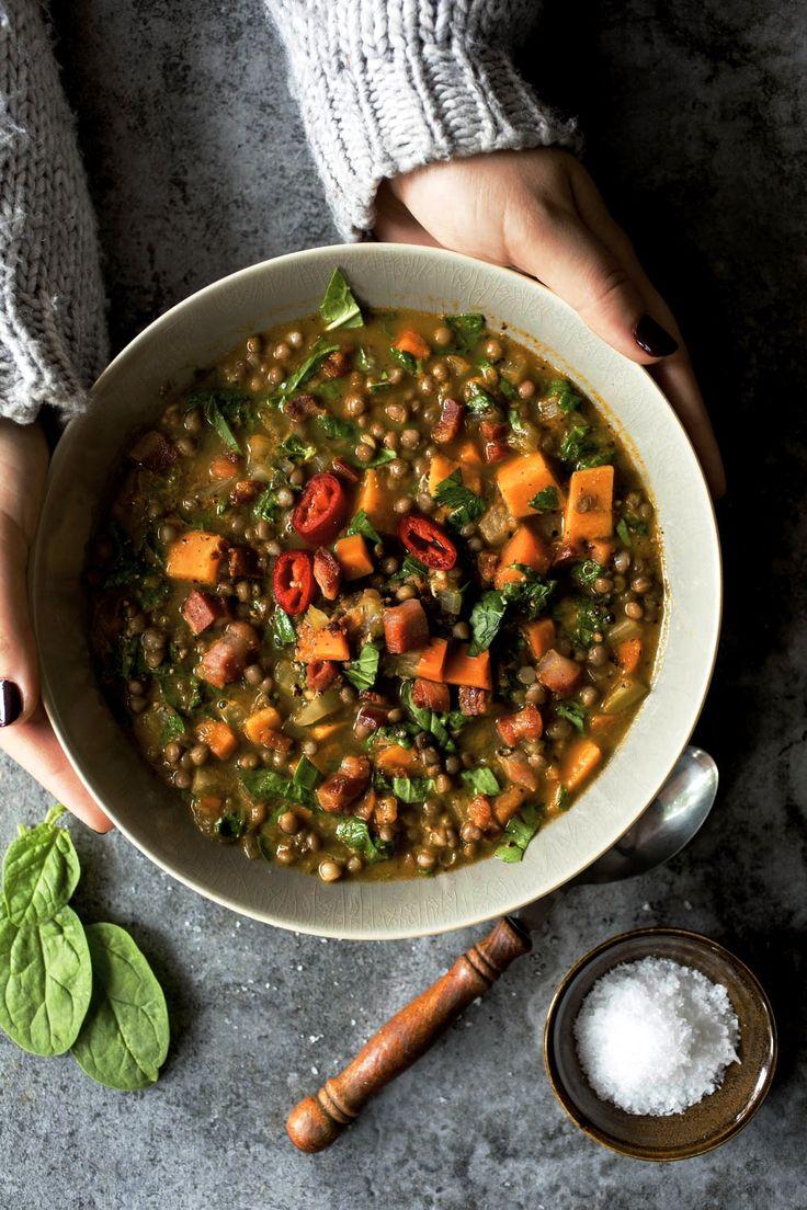 Soupe de lentilles, carottes et patates douces | K pour Katrine