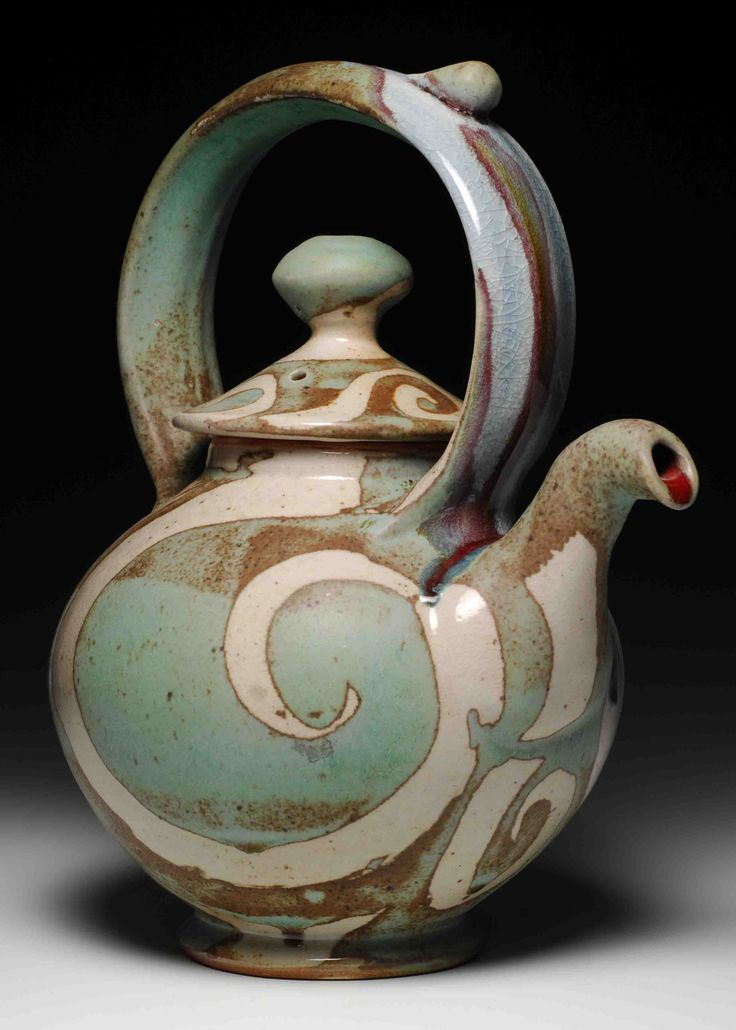 Brad Henry's teapot reminds me of Jack Troy and Scott Goldberg's glazing, but also reminds me that dripping spouts are lovely, as this one is already moving in that direction...