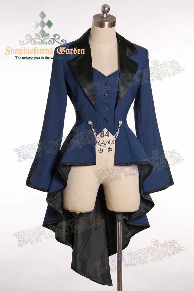 Elegant Gothic Aristocrat Irremovable Vest Ball Wavy Tuxedo Jacket ...