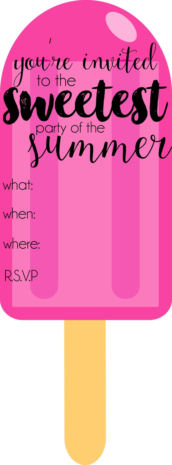 popsicle party printable invite