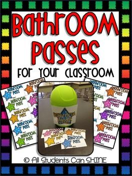 All Students Can Shine: Bathroom Passes
