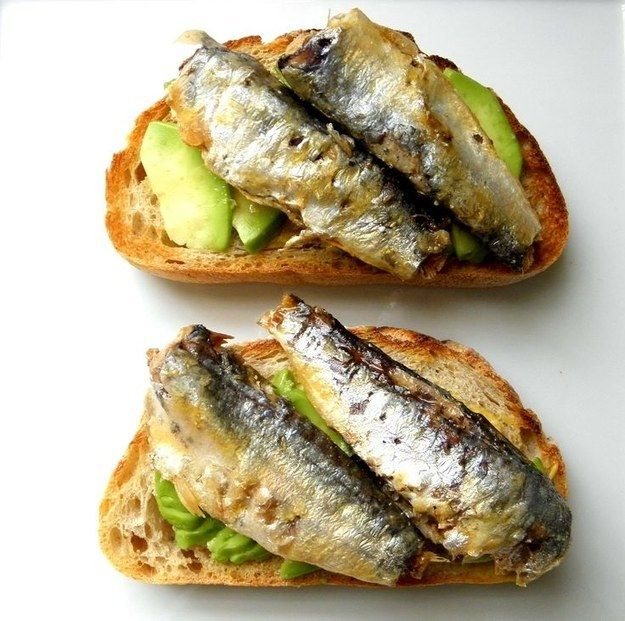 Sardine Avocado Toast | 19 Delicious Superfood Combos That You Need To Try