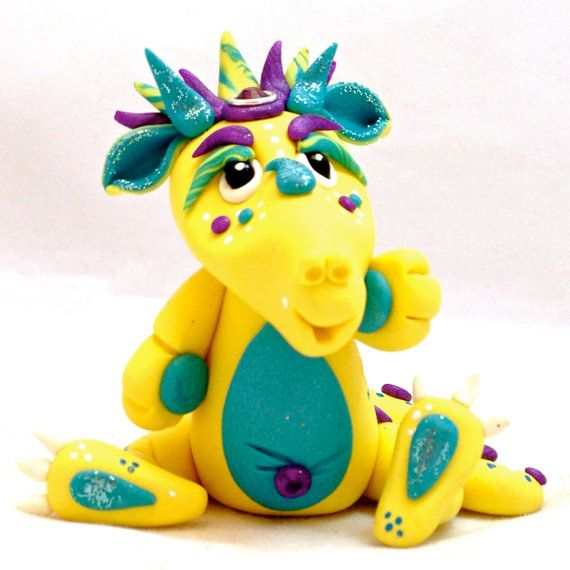 Polymer Clay Dragon 'Gemmie'  Limited Edition by KatersAcres
