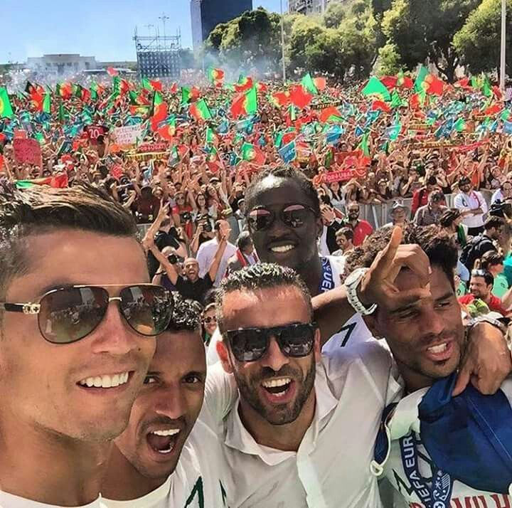 Congratulates Cristiano Ronaldo and the Gang for winning the 2016 Euro Cup champion.