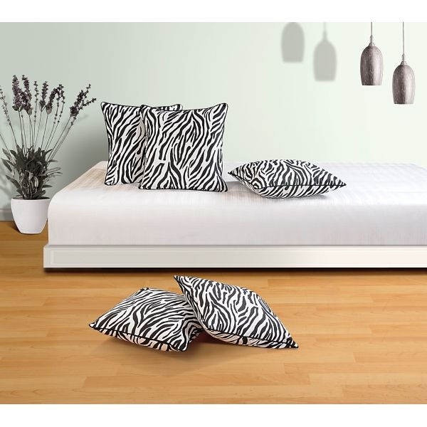 Zebra Print Cushion Cover- Animal prints have been one of the oldest symbolic emphasis of fashion motifs, be it the clothes or the home décor.