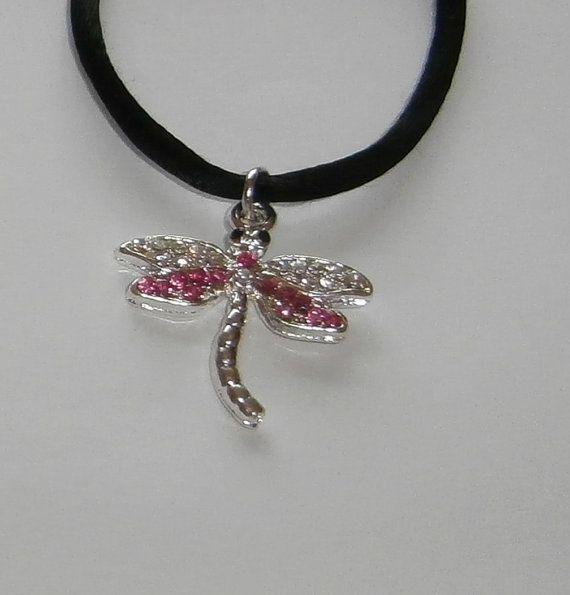 Diamante Dragonfly Choker by WearMyJewellery on Etsy, £4.00