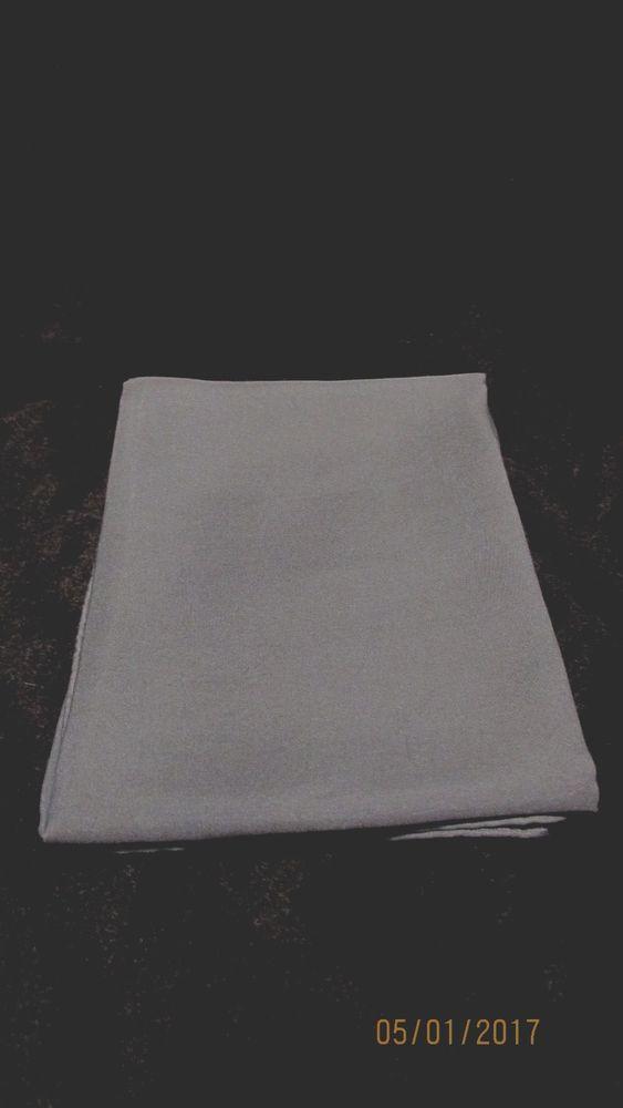 Vintage Mens Gray Silk Handkerchief 17.5 x 18