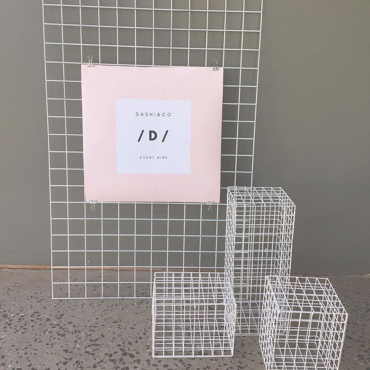 """5 Likes, 2 Comments - Dashi & Co (@dashi.co) on Instagram: """"Featuring our mesh panel with welcome sign and mesh cubes"""""""