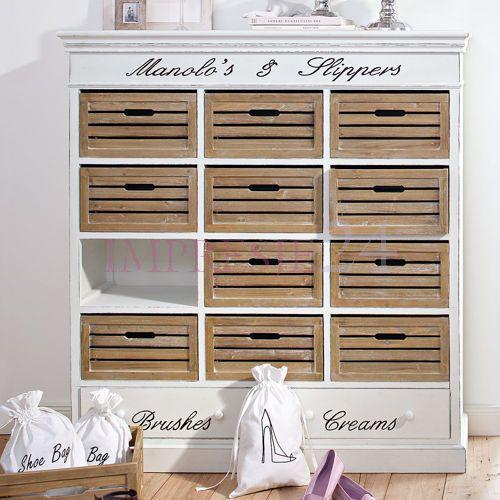 Stylowa szafka na obuwie | Stylish shoe cabinet #meble #szafka_na_buty #stylowa #prowansalska #furniture #shoe_cabient #stylish #provencal #interior #white #brown