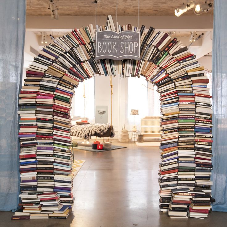 The Land of Nod book shop: custom built book arch!