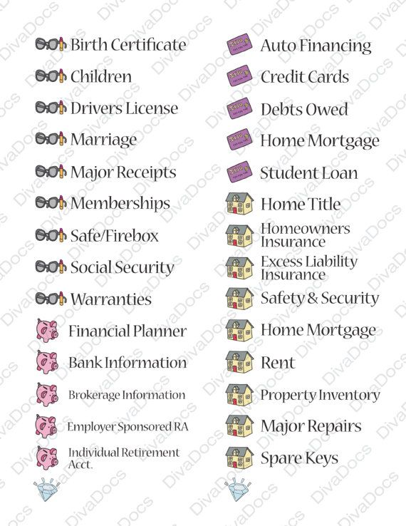Complete Set of Diva Labels for Home File System by DivaCFO, $9.99