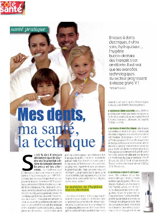 emmi dent in the most important health french magazine. Black Bedroom Furniture Sets. Home Design Ideas
