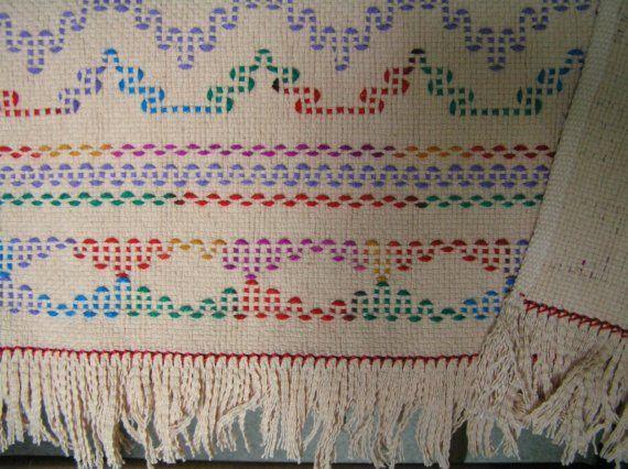 Camel Swedish Weaving Blanket by NeenersWeaving on Etsy, 95.00