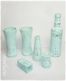 DIY ... alles vonKarin : DIY: selbstgemachte Kreidefarbe & Vintageflaschen
