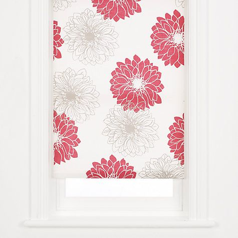 Buy John Lewis Gerbera Roller Blind, Red Online at johnlewis.com