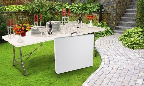 #Tavolo pieghevole da esterno a 54 90   ad Euro 54.90 in #Groupon #Products home and garden1
