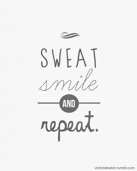 ► Sweat, Smile & Repeat. An original typography design print by Victoria Breton. $22 on Etsy.