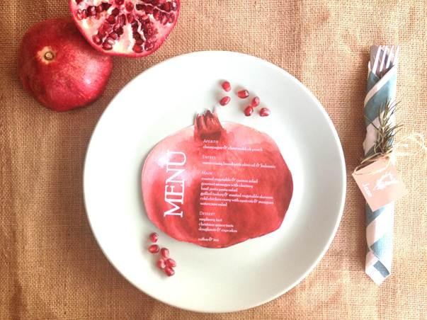 pomegranate christmas table