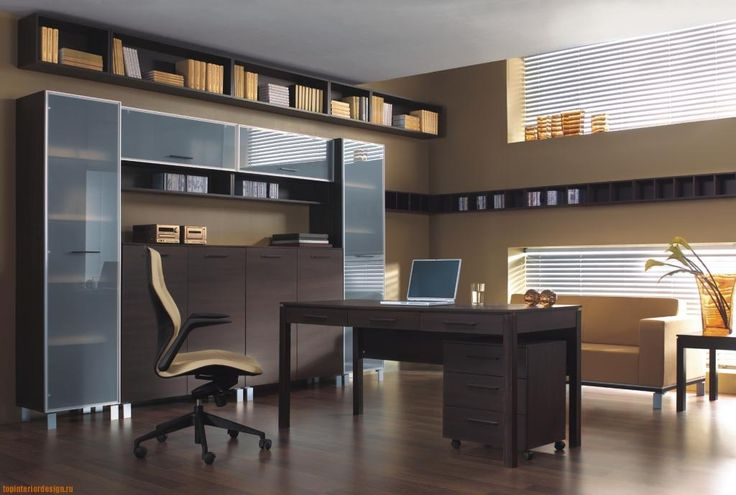 http://taizh.com/wp-content/uploads/2014/11/Winsome-home-office-interior-design-with-dark-wooden-office-table-and-swivel-chair-also-wooden-vanity-in-the-nearby-including-hardwood-flooring-and-brown-painting-wall-decor-and-brown-sofa-beside-shades-window.jpg