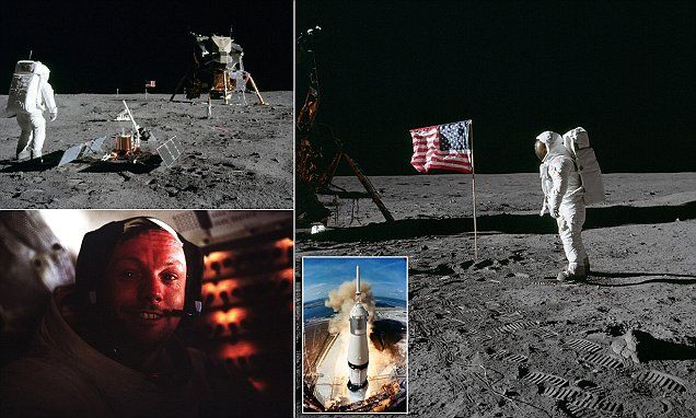 One small step for man, one giant leap for color photography #DailyMail