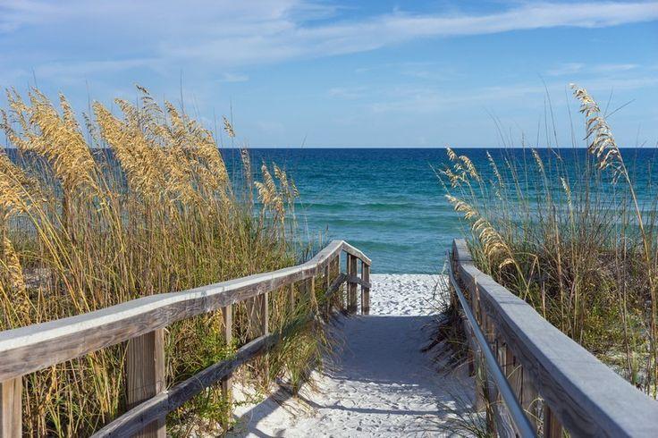 Fotobehang: Strandpromenade bij de Golf van Mexico