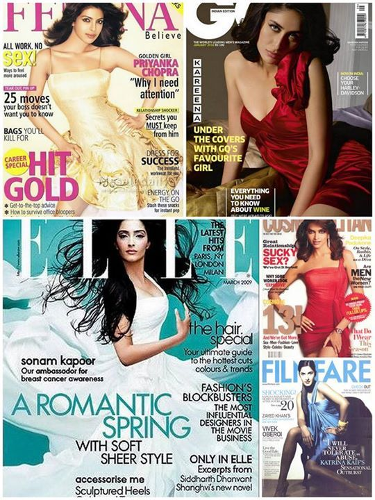 A look-back at the #ShantanuNikhil muses dazzling on the covers of few of the most noteworthy magazines Femina GQ India Cosmopolitan India ELLE India Filmfare #Celebrating15YearsOfShantanuNikhil
