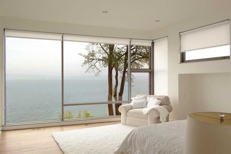 Motorized shades (add - inset/hidden, double with sheer and light blocking)