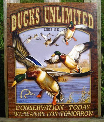 Ducks Unlimited Home Decor: Ducks Unlimited Mallards TIN SIGN Metal Wall Art Poster