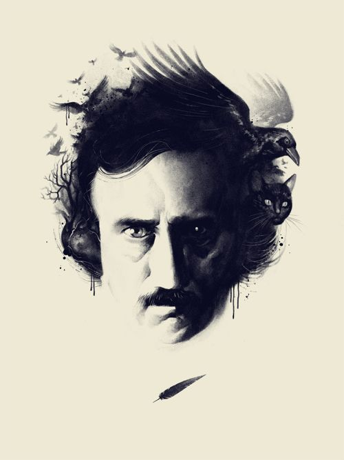 The fine folks at Phantom City Creative have turned this  striking Edgar Allen Poe image, originally created for the play Nevermore, into an incredible new art print.