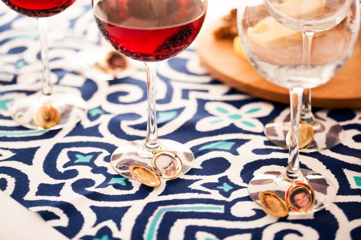 Accent your glass with wine charms! A festive way to  commemorate #NationalDrinkWineDay #EccDomani #Wine