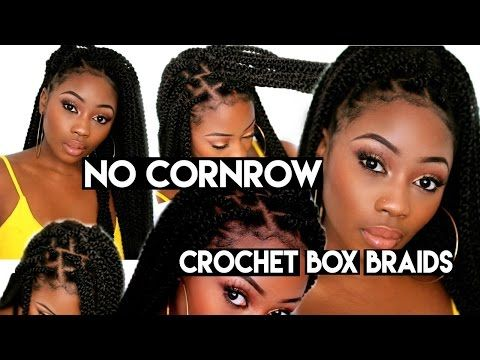 Individual Crochet Box Braids   No Cornrows! New Method! Long Large 90's Braids in 2-3 Hrs - YouTube