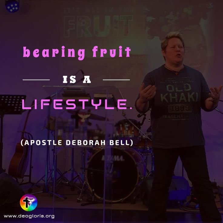 """Bearing fruit is a lifestyle."" Apostle Deborah Bell. #christian #preaching #quote #jesus #power #fruit #lifestyle"