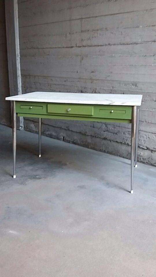 Tavolo anni 70 con piano in marmo #table
