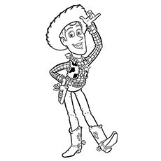 The Woody All Alone Coloring Pages
