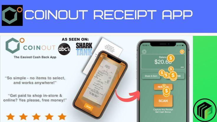 Coinout receipt scanning app as seen on shark tank