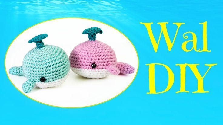 Themen Woche: Meeresbewohner :D Der Wal wird ca. 8 cm groß in der Länge. Was du für die Anleitung brauchst: · Wolle in Stärke 3,0-3,5 · Häkelnadel Stärke 2,5...