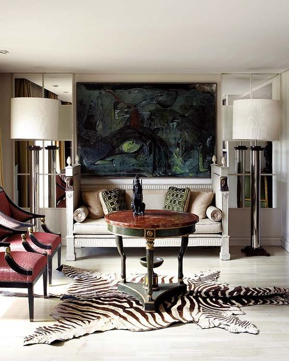 Interior Design Zebra Rug