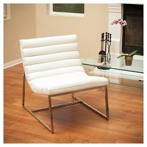Parisian White Leather Sofa Chair - White Leather - Christopher Knight Home