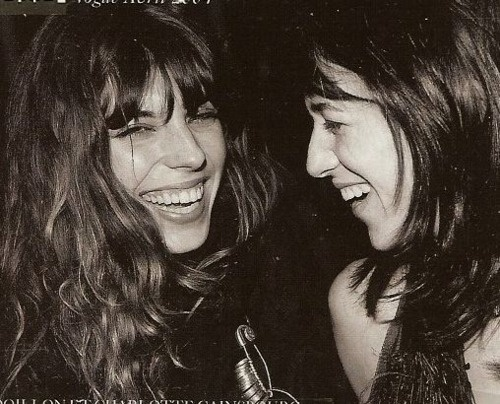 love this pic of lou doillon and charlotte gainsbourg laughing