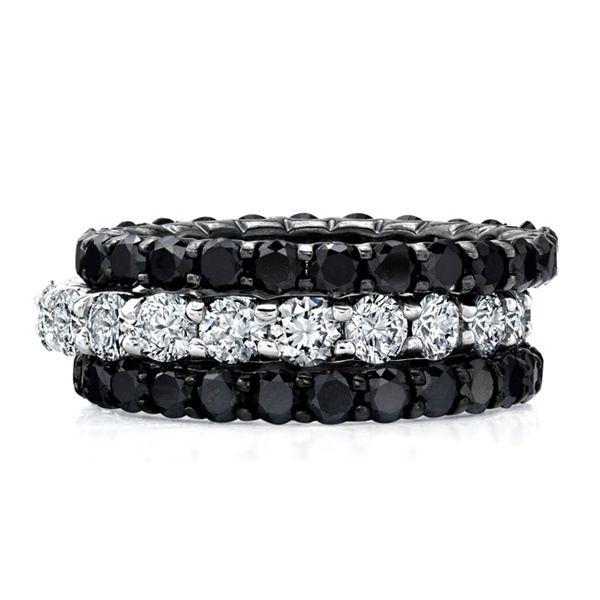 Black and white diamonds via @Rachel Hammes Jewelers Elizabeth